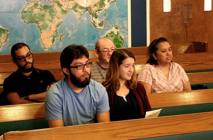 Members enjoying seeing Dr. Green