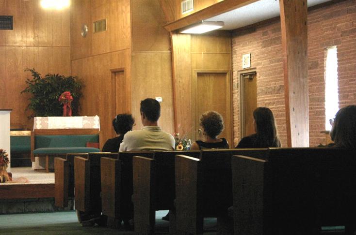Members and Visitors at LBC enjoying the Worship Service